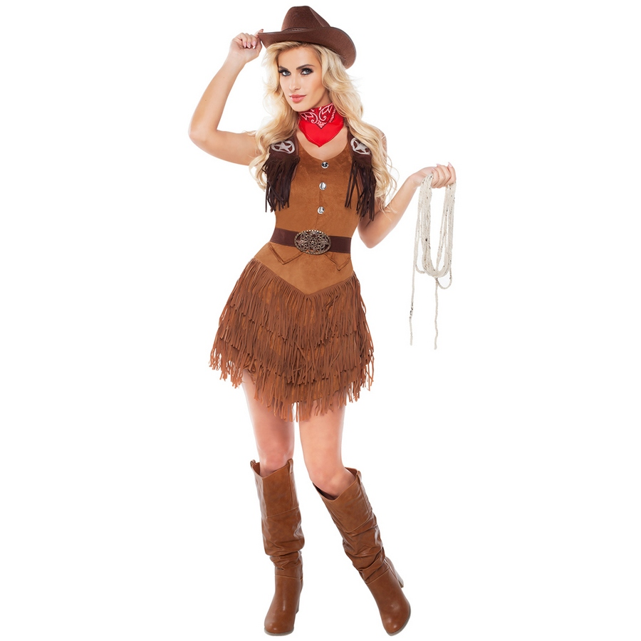 Silver Star Cowgirl Costume  Stoners Funstore In -2043